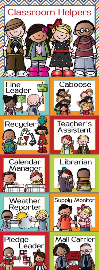 Classroom JOB clip chart featuring the Melonheadz kids Visit ARTrageous Fun on Teachers Pay ...