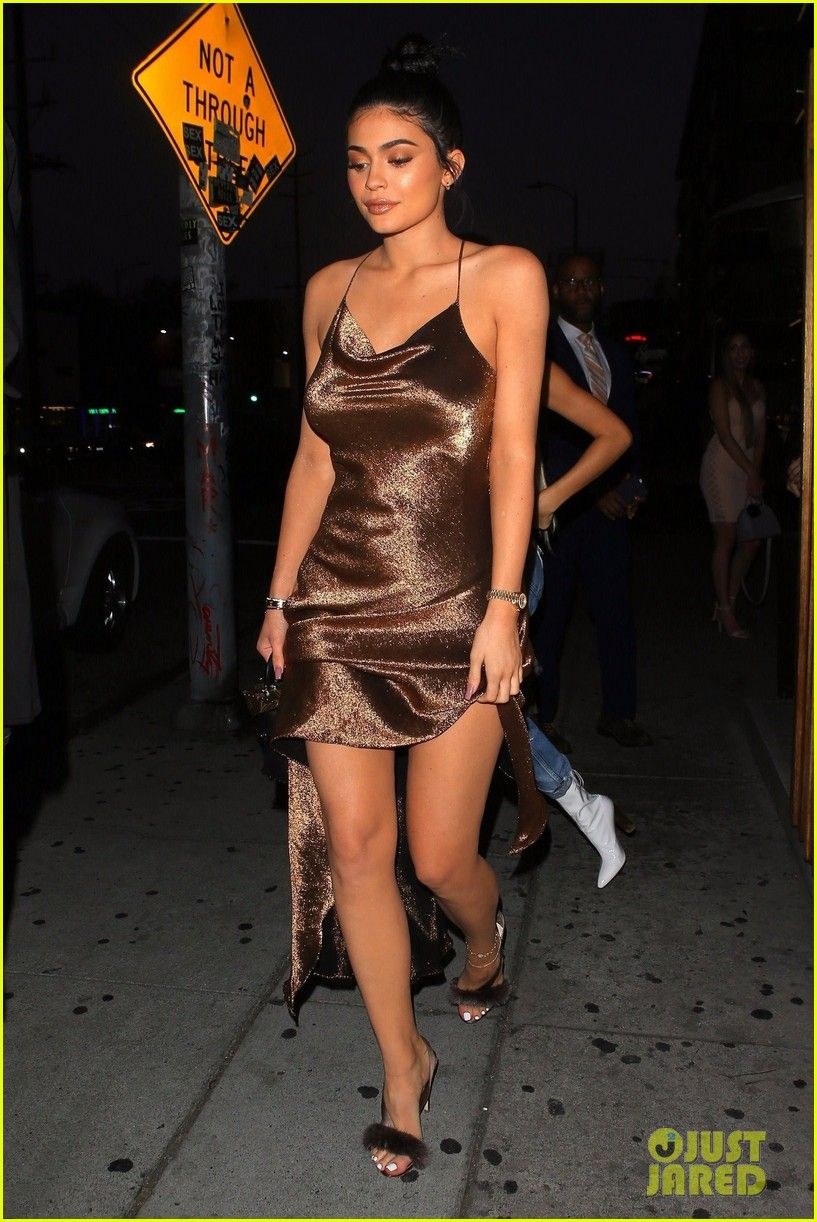 73d31007140 kylie jenner shimmers in sexy gold dress at the nice guy 01