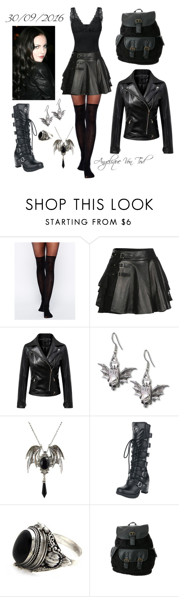 """Heavy Metal Outfit"" by angelique-von-tod ❤ liked on Polyvore featuring Gipsy, Mairi Mcdonald, Chicnova Fashion, NOVICA and claire's"