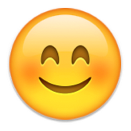 Smiling Face with Smiling Eyes Emoji (U+1F60A/U+E056) | homework ...