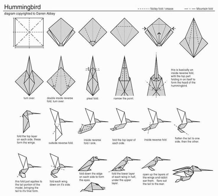 Origami Humming Bird