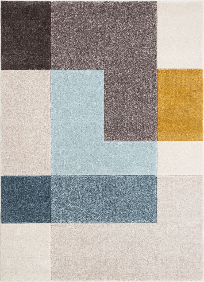 Constance Multi Contemporary Geometric Blocks Rug By Chill Rugs Modern Area Rugs Modern Carpets Design Abstract Rug