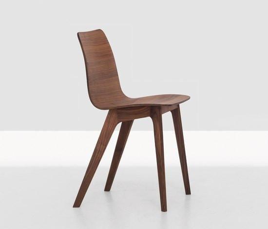 Walnut Morph Dining Chair Smooth Sleek Modern Room Wooden