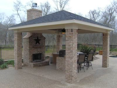 detached covered patio ideas covered porch detached covered patio with outdoor fireplace gazebo kitchen and fulshear fullbrook