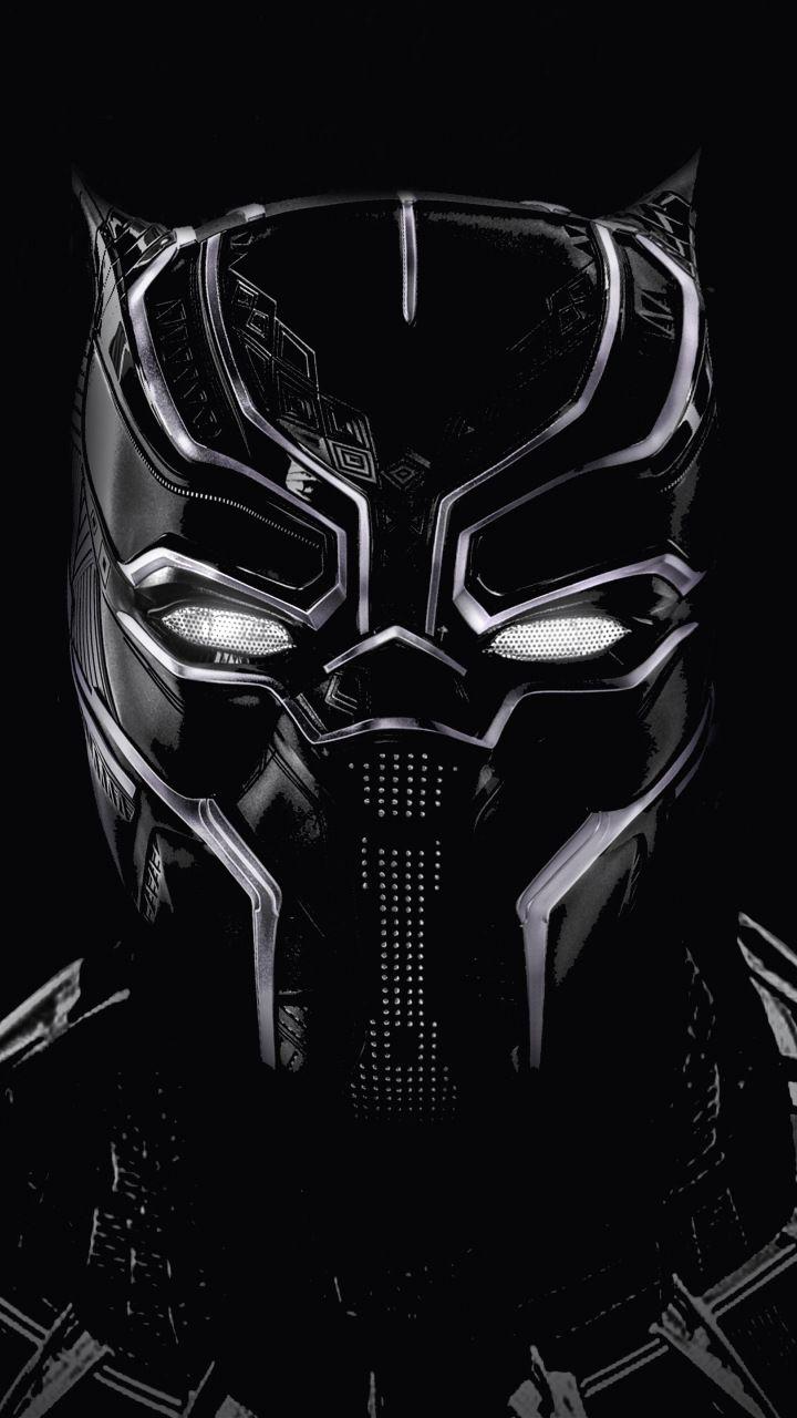 Black Panther Black Mask Artwork 720x1280 Wallpaper ブラック