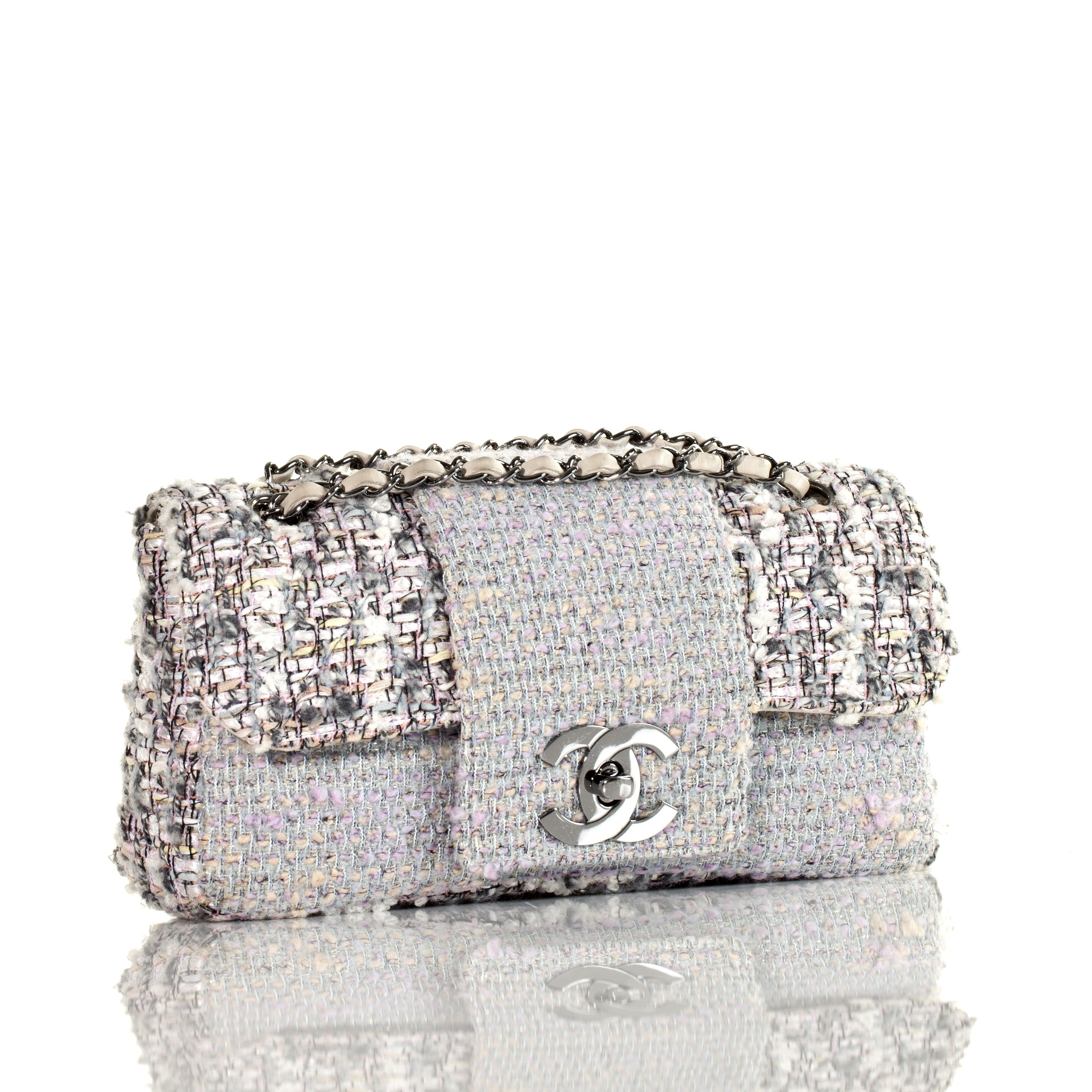 4c7069a10916 Chanel Tweed Classic Fantasy Flap Bag Rare