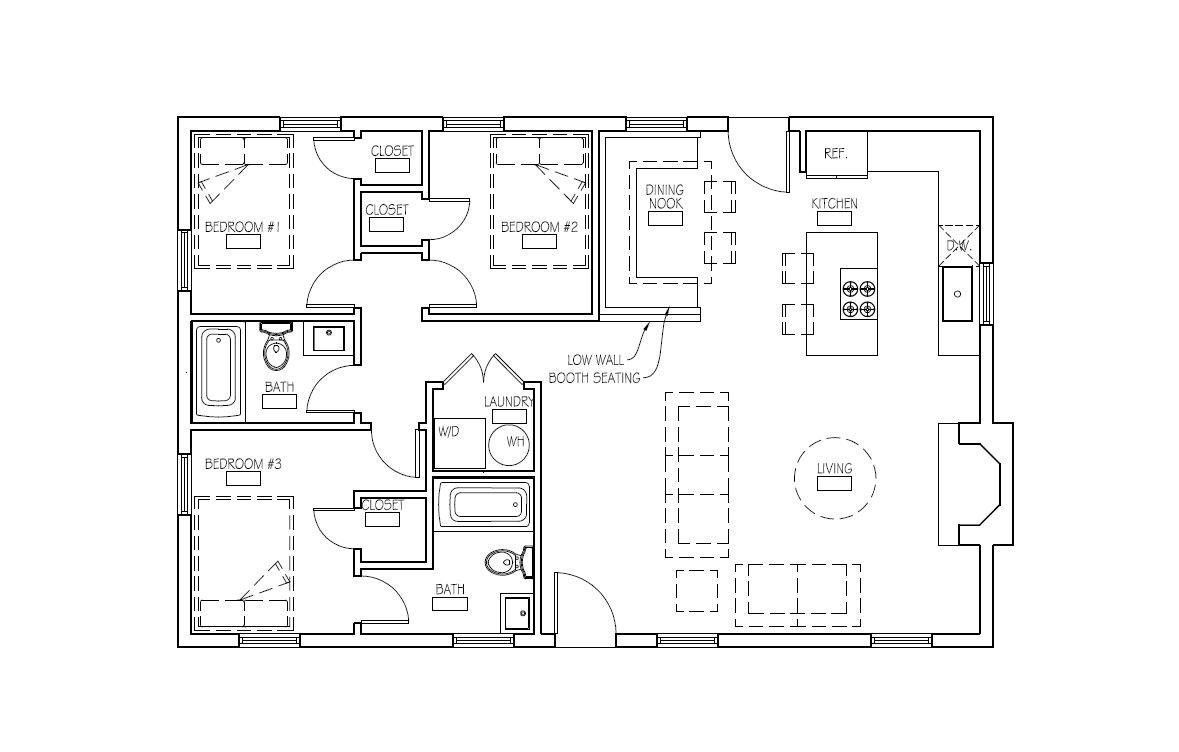 Excited To Share Our Functional Bungalow Plan For The Perfect Family Escape The Wrangler Etsy Plan Autocad D House Plans Floor Plans Modern House Plans