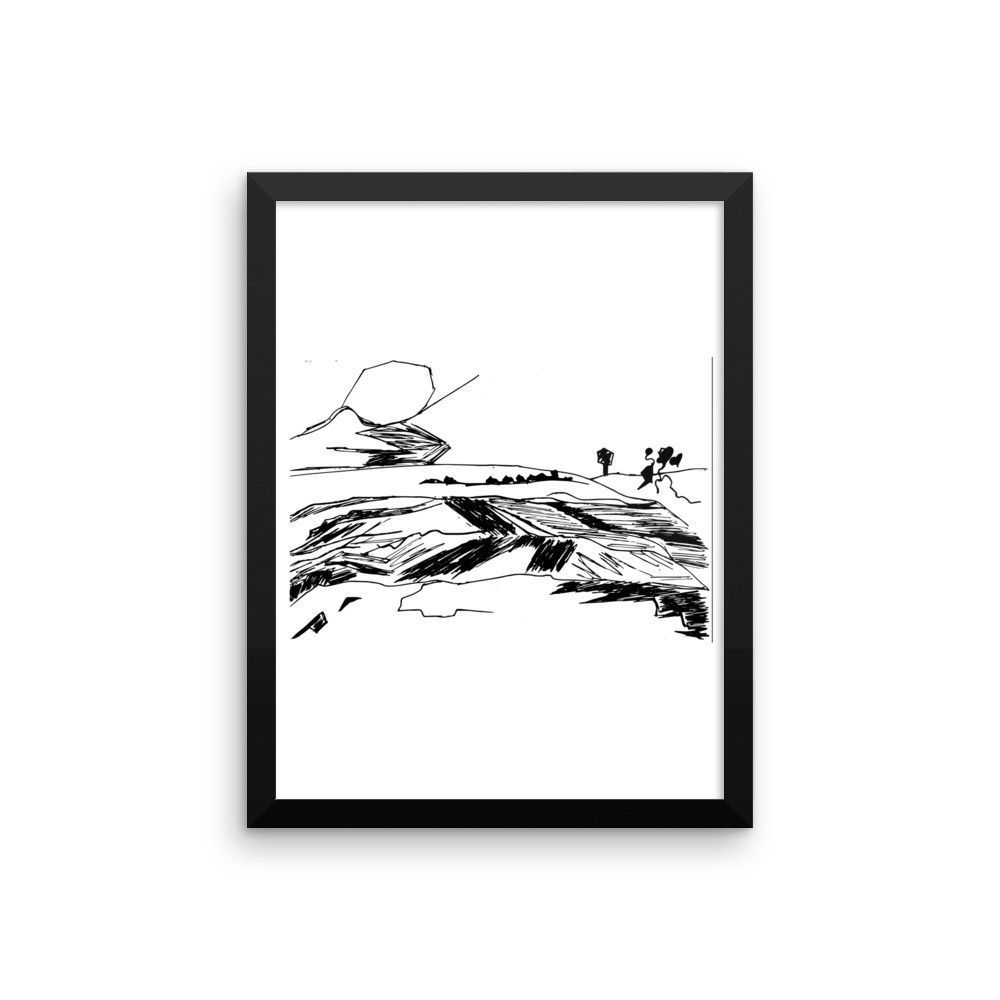 Hand-Painted Artwork - Wall Art Print, Framed Poster