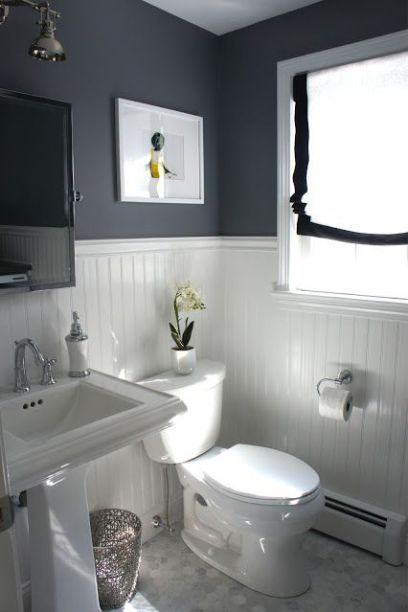 Superieur Ideas To Decorate A Small Bathroom To Make It Look Bigger With High Or Low  Contrast