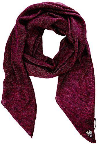 MEXX Damen Schal Scarf, Einfarbig, Gr. One size (Herstellergröße: Taille unique), Violett (Purple Wine)