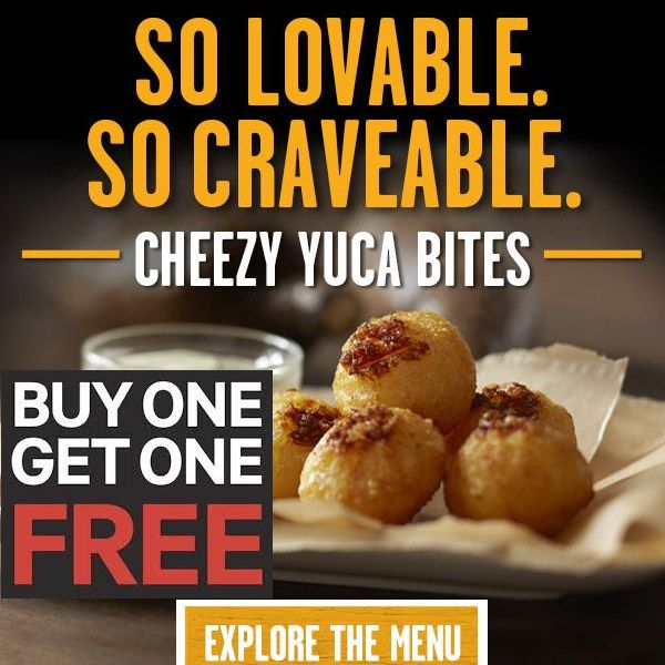 picture about Pollo Tropical Printable Coupons named Pollo Tropical: BOGO Cheezy Yuca Bites Coupon through 9/26