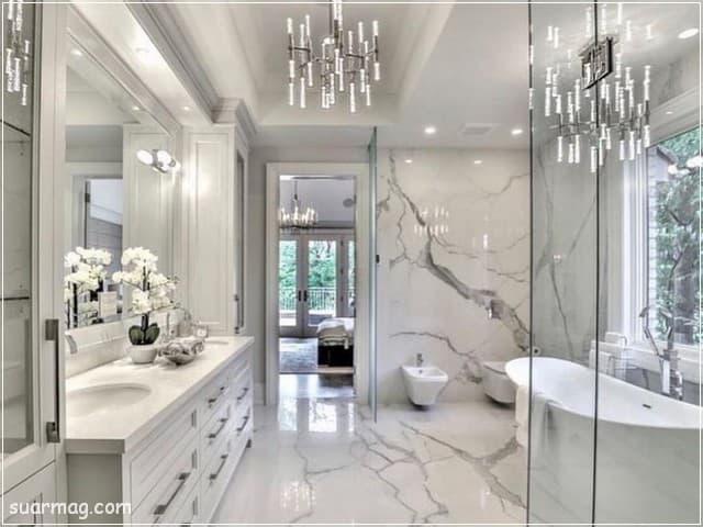 أجمل وأحدث صور حمامات مودرن 2021 وديكورات حمامات فخمة جدا مجلة صور Popular Bathroom Designs Modern Master Bathroom Master Bathroom Design