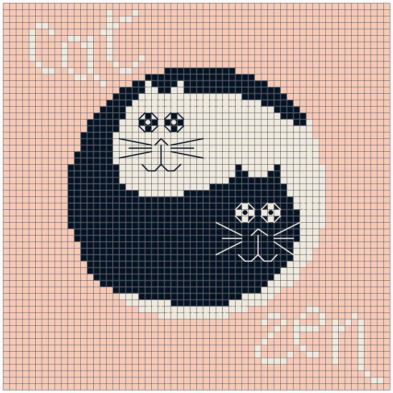 Cat zen free chart free charts cats pinterest cross stitch