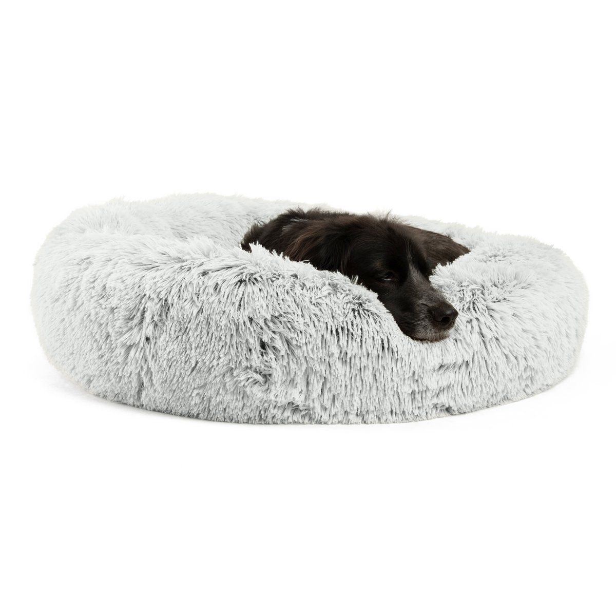 The Original Calming Donut Dog Bed In Shag Fur 30 X30 Dog Mattresses Donut Dog Bed Pet Cushions