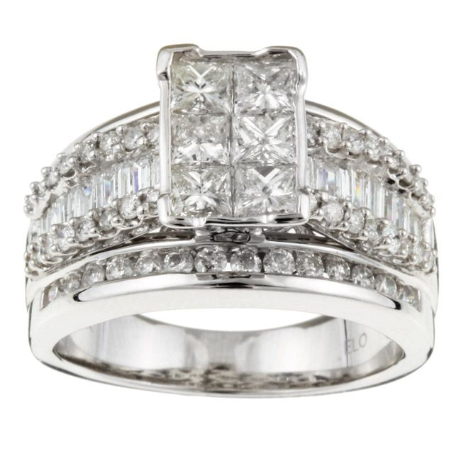 Click here for ring sizing chart dazzling diamond unique karat white gold jewelry also ct   composite rectangle engagement in  rh pinterest