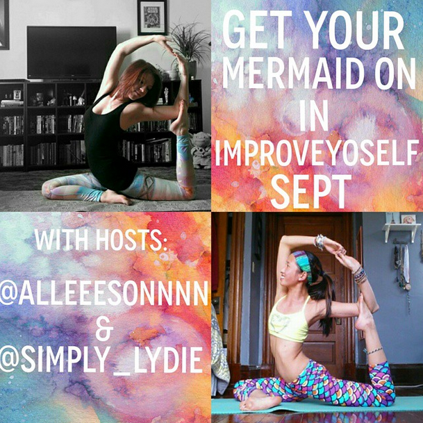 Doing the improveyoselfsept2014 challenge over on insta :]