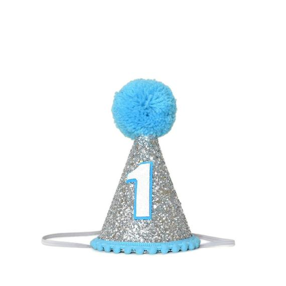 1st Birthday Party Hat Silver Birthday Hat 1st Birthday Boy Outfit First Birthday Boy Party Hat Birthday Party Hats Boy Birthday Parties