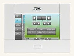 AMX's new touch-panel remote for the home #touchpanel