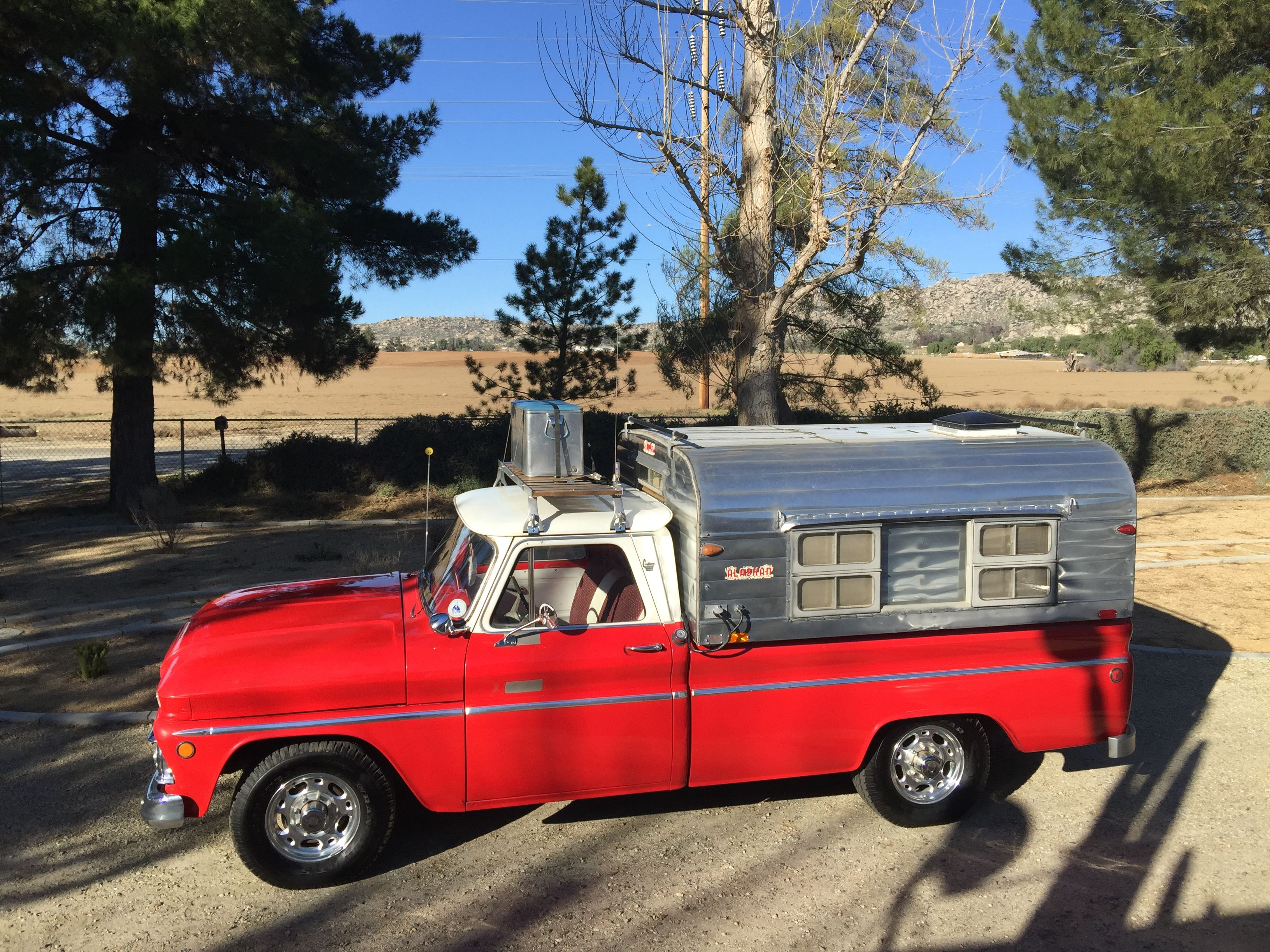 1964 GMC 1966 Alaskan Camper Pickup CamperTruck CamperVintage