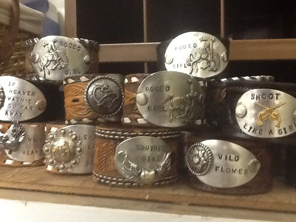 Leather Cuffs from Vintage Belts