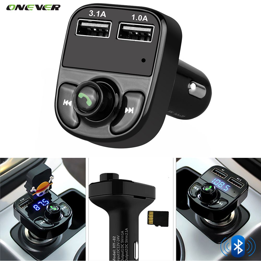 super bluetooth car kit handsfree set fm transmitter mp3 music rh pinterest com how to play music from your phone in a car
