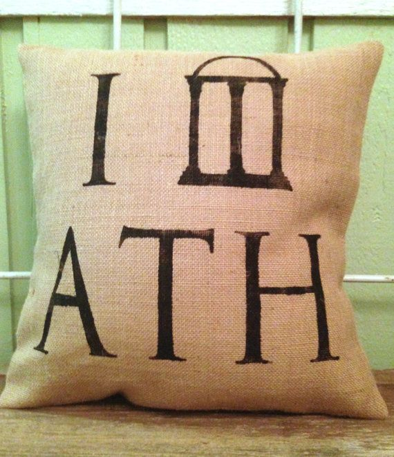 Burlap Pillow  I arch Athens  UGA State of by TwoPeachesDesign. #tpdholiday
