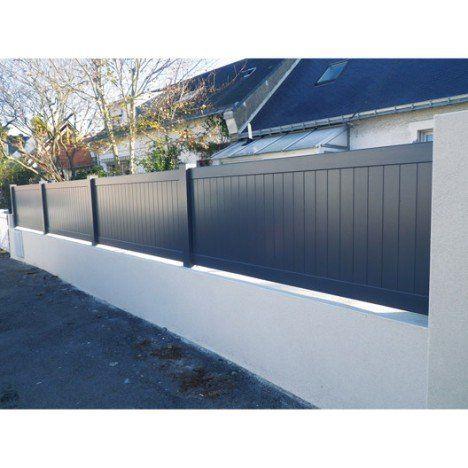Cloture Aluminium Pontivy Naterial Blanc H 80 X L 200 Cm Cloture Pvc Cloture Aluminium Cloture Maison