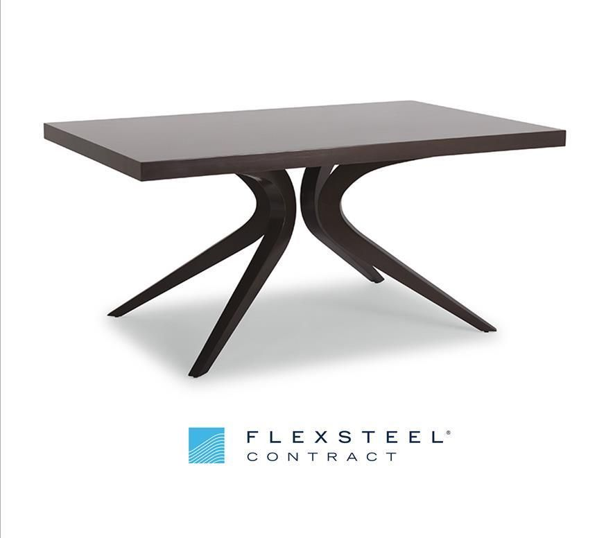 Modern concept and intrepid design combine in this incredible dining table. Producing an uninhibited sense of flow, Degree's clean lines and unique shape are sure to be a topic of discussion for your guests.  #HDExpo2016