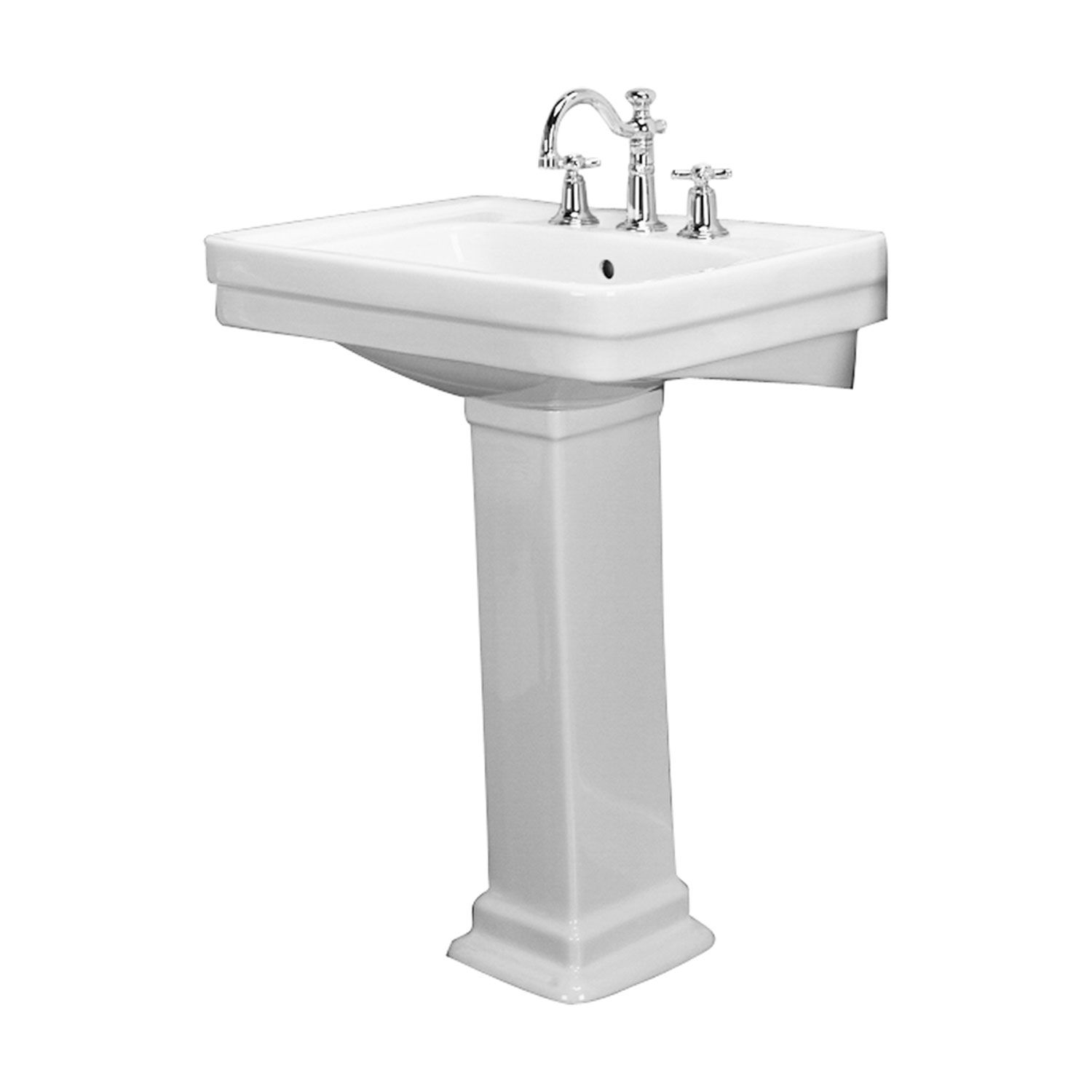 Barclay Products Sussex White 550 Pedestal Sink 8 Inch Widespread 3 648wh Bellacor Pedestal Bathroom Sink Pedestal Sink Barclay Products [ 1500 x 1500 Pixel ]