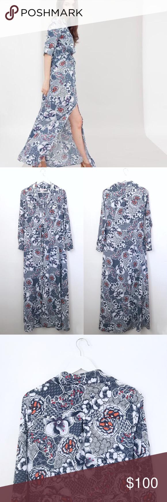 Anthropologie hutch mackenzie floral maxi dress