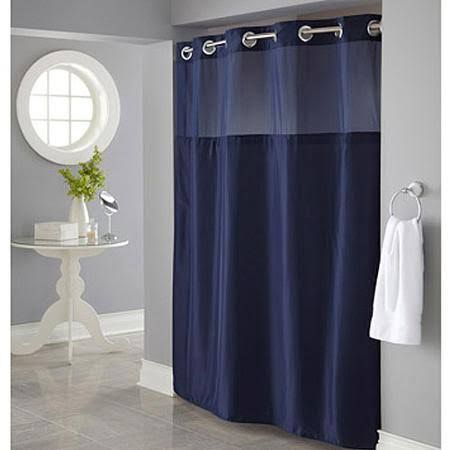 Blue Shower Curtain Walmart Blue Shower Curtains Hookless Shower Curtain Blue Bathroom Decor