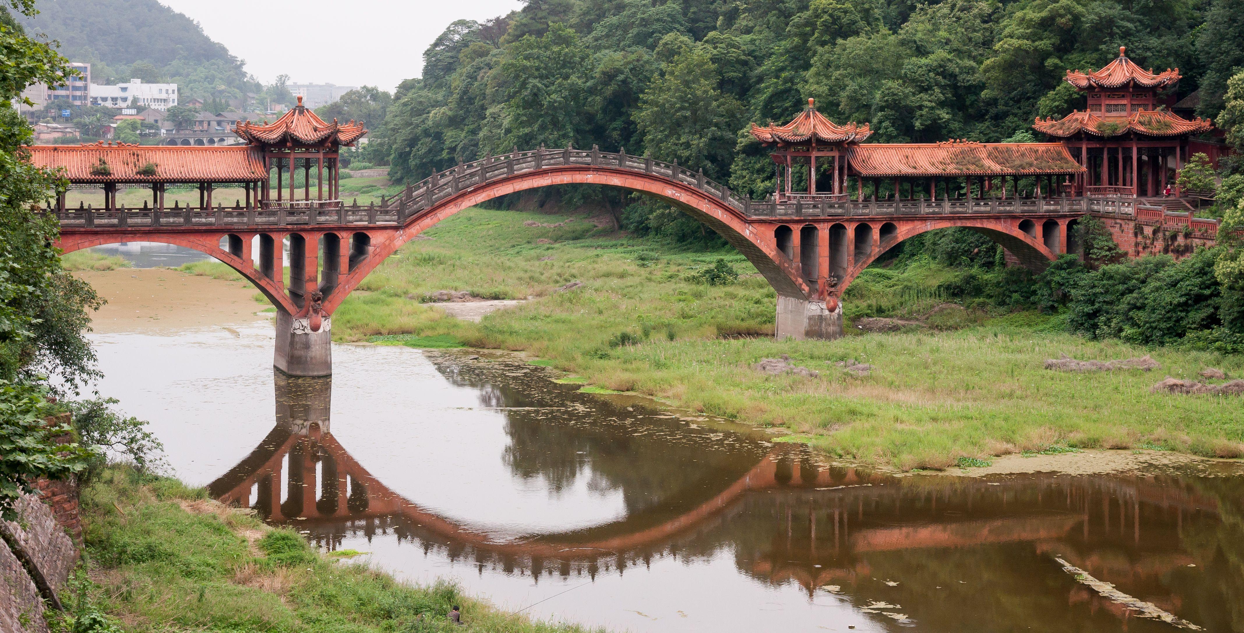 Mountain Bridges In China Căutare Google Leshan Arch Bridge Bridge