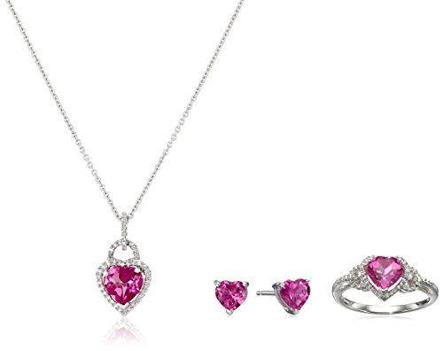 1 Ct Pink Sapphire 7x5mm Oval /& Diamond Pendant .925 Sterling Silver