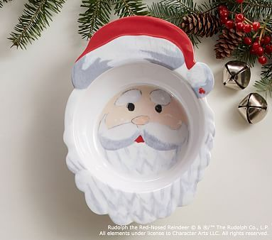 Rudolph The Red Nosed Reindeer 174 Santa Shaped Bowl Red