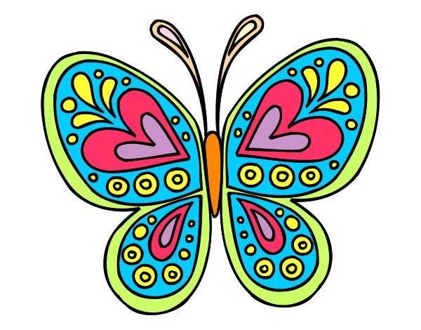 Dibujo Mandala Mariposa Pintado Por Eliana02 Pintura En Tela