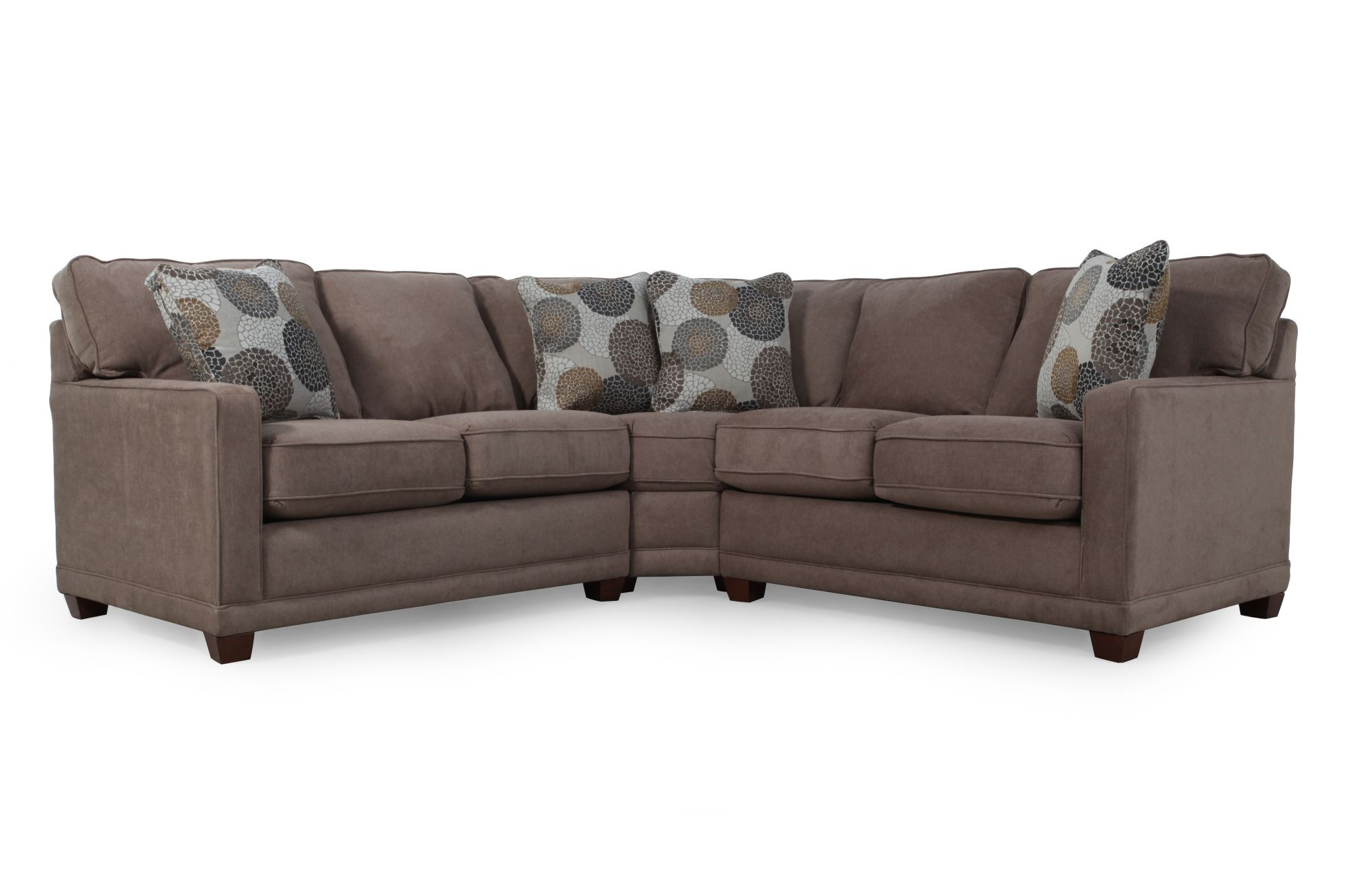 La-Z-Boy Kennedy Cashmere Sectional | Mathis Brothers Furniture  sc 1 st  Pinterest : lazyboy sectionals - Sectionals, Sofas & Couches