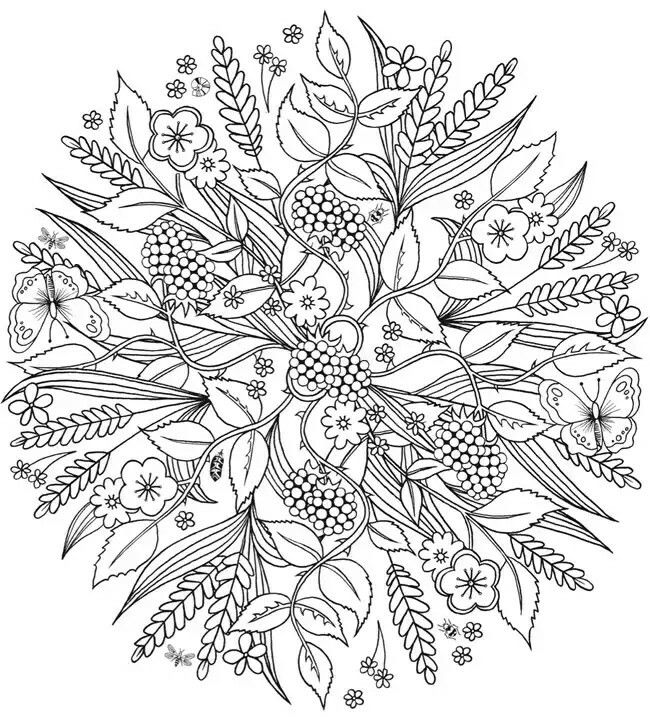 Pin by aj groome on Coloring Mandala | Coloring pages nature ...