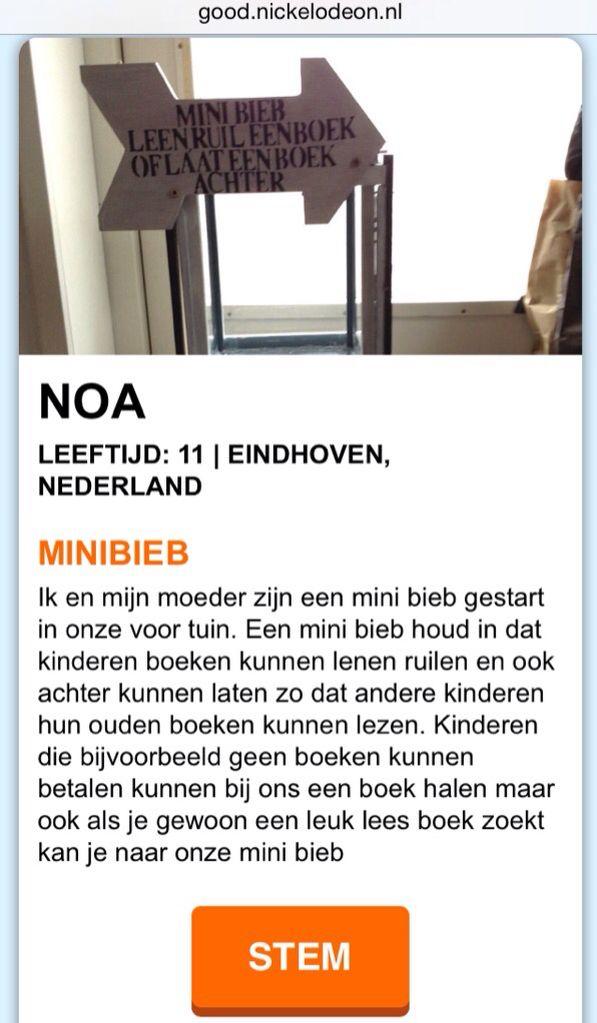 Stem op Noa  http://good.nickelodeon.nl/stem