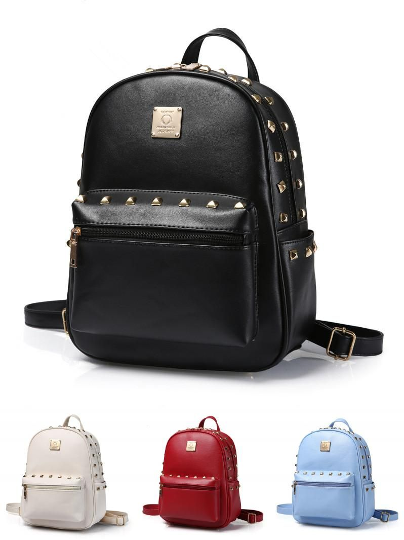 7d90f6b6c6a3  Visit to Buy  Vintage Casual New Style Pu Leather School Bags High Quality  Hotsale