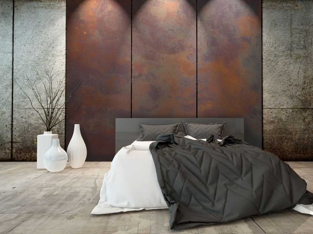Beautiful panels covered with Oxydecor #paint #rust effect in this ...