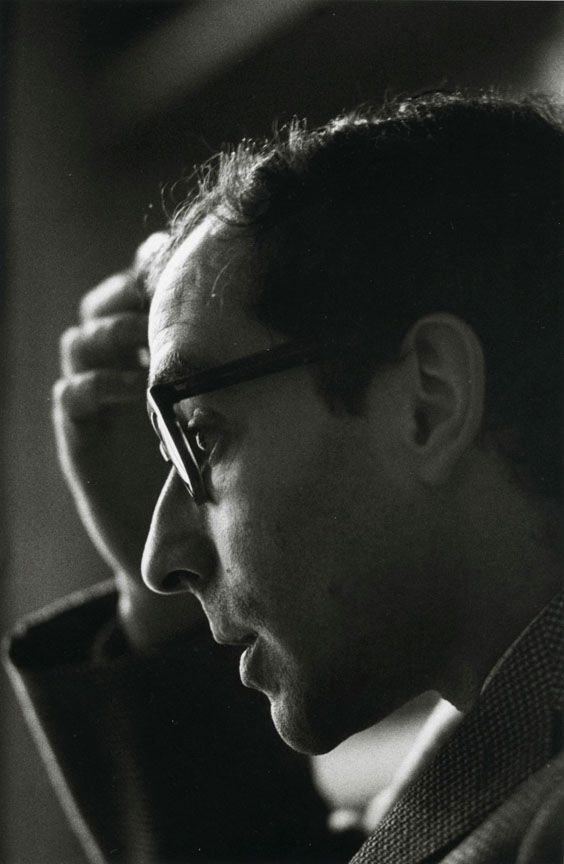 Jean-Luc Godard (1930) - French-Swiss film director, screenwriter and film critic. Photo 1965 by Jeanloup Sieff