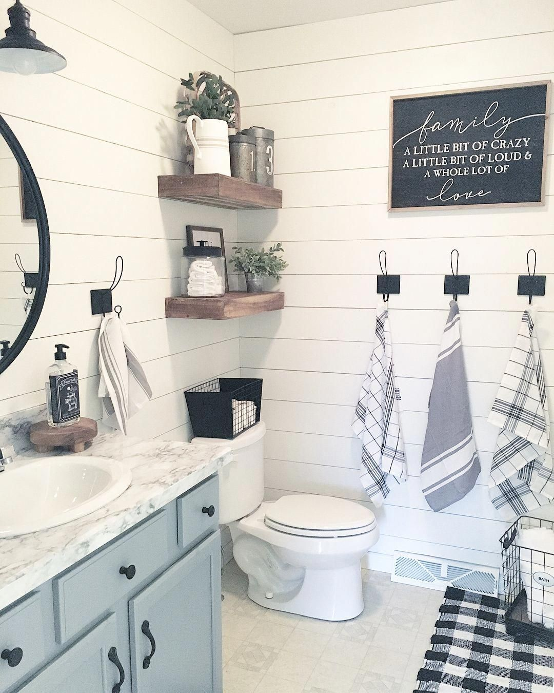 New Bathroom Design Yellow Gray And White Bathroom Decor Navy Blue And Grey Bathroom Decor 201812 Bathroom Decor Farmhouse Bathroom Decor Bathroom Makeover