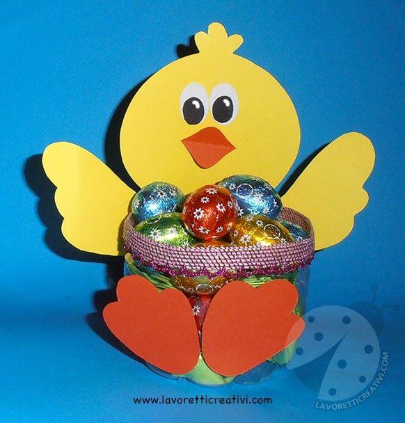 Lavoretti Di Pasqua Per Bambini Pulcino Porta Ovetti Easter