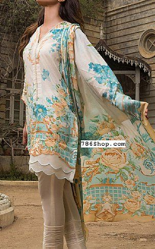 Blue Lawn Suit   Buy Firdous Fashion Dress is part of lawn Design Pakistani - Pakistani Lawn Suits with prices online shopping in USA, UK    Pakistani Lawn clothing for sale with Free Shipping  Call +1 5123801085