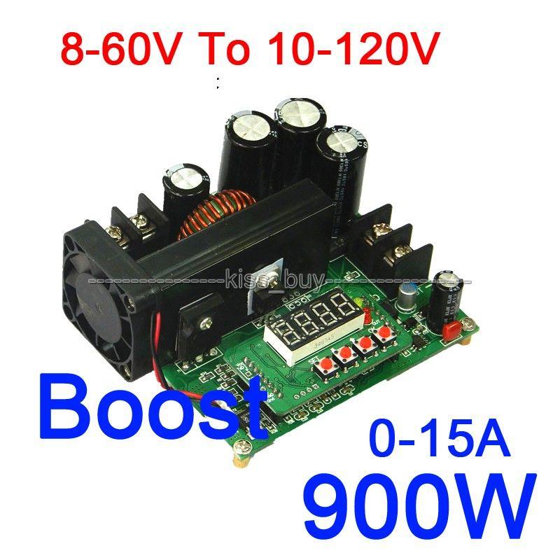 Dc Dc 900w 0 15a 8 60v To 10 120v Nc Boost Power Supply Module Cc Cv Led Driver 12v 24v 19v 36v 48v Car Led Display Affi Led Drivers Voltage Regulator Car Led