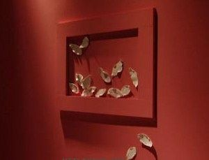 A picture with leaves, beautiful and different to decorate the wall of our home