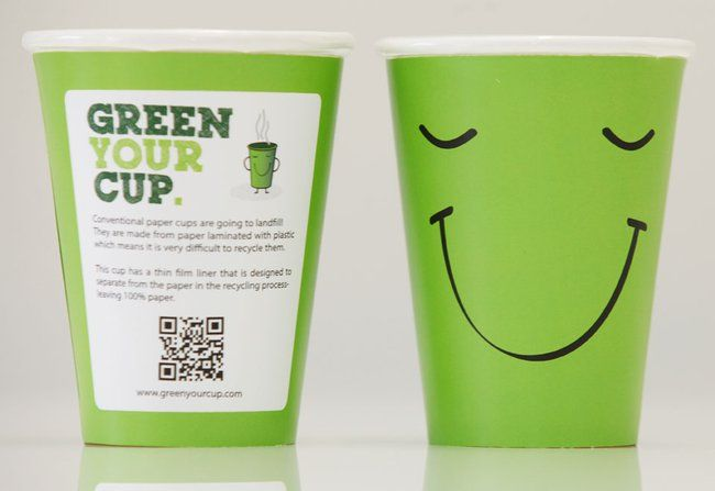 Starbucks Proves You Can Recycle Coffee Cups Paper Coffee Cup Disposable Coffee Cups Coffee Cup Design