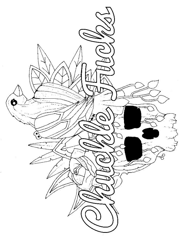 Raven - Adult Coloring page - swear. 14 FREE printable coloring ...