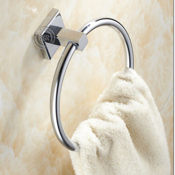 Becola Stainless Steel Bathroom Accessories Ring Round Towel Holder Surface Chrome Br 87009 Free Shipping