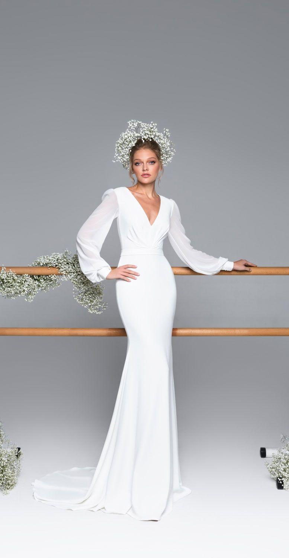 Eva Lendel - Eva Bridal Collection, Simple wedding dress,Mermaid wedding dress,wedding dresses,beautiful long sleeves wedding dress,wedding gown #weddingdress #weddinggown